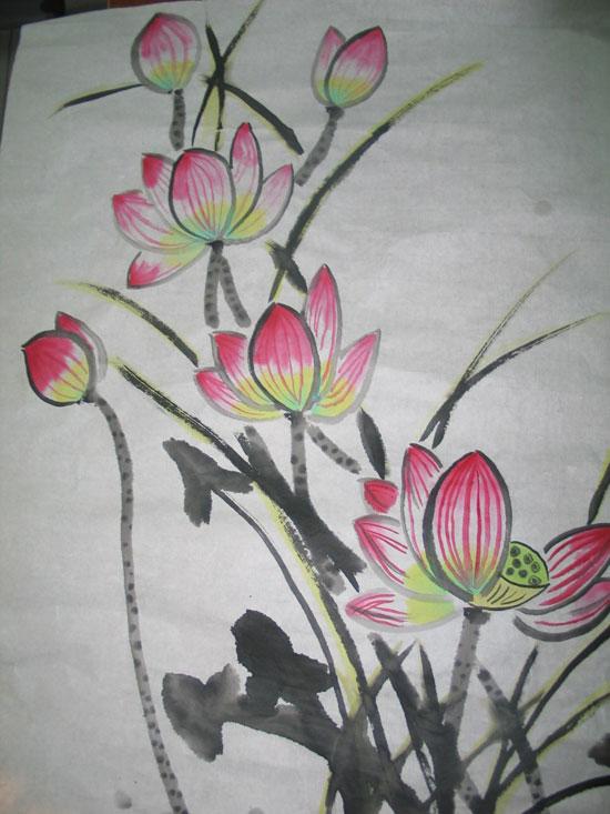 石家庄市长征街小学六年级国画作品展示