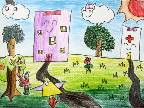 石家庄市南马路小学科幻画《未来的世界》图片
