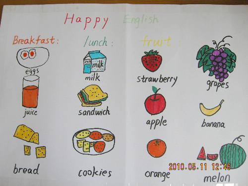 马路小学三年级英语手抄报展示