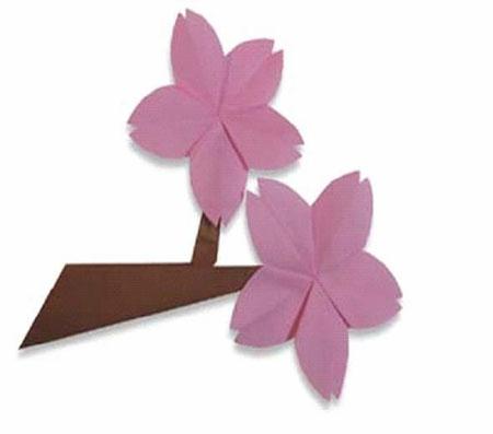 折纸图解——梅花