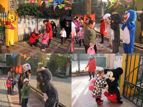 石家庄丑小鸭幼儿园万圣节主题活动——面具糖果大