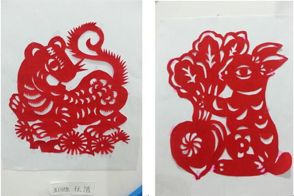 槐北路小学剪纸社团学生作品展