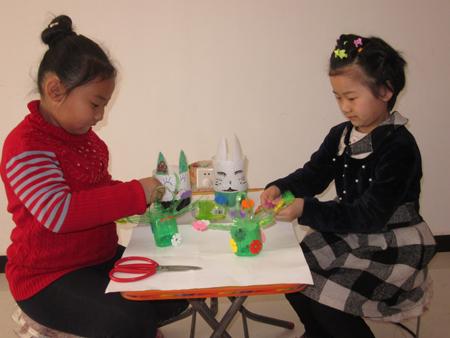 望都县城内小学举办小制作小发明大赛-- 五彩校园